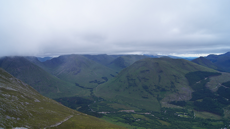 Summit view to Glen Coe