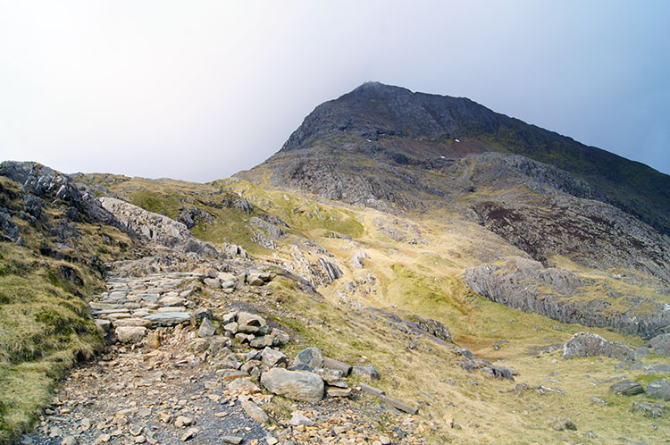 Crib Goch comes into view