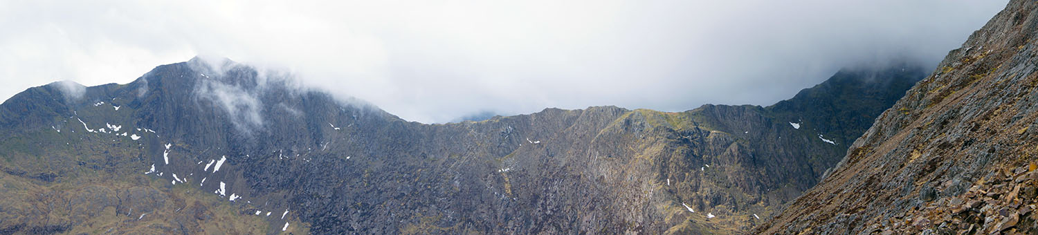 The Snowdon to Y Lliwedd ridge