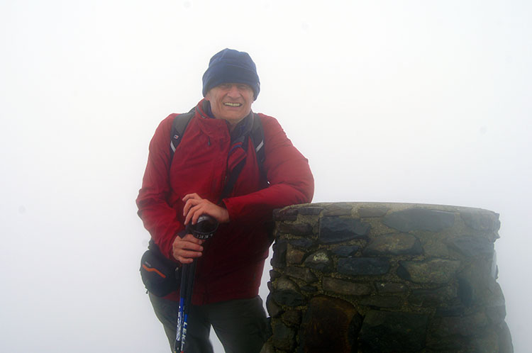 At the summit of Snowdon without a view
