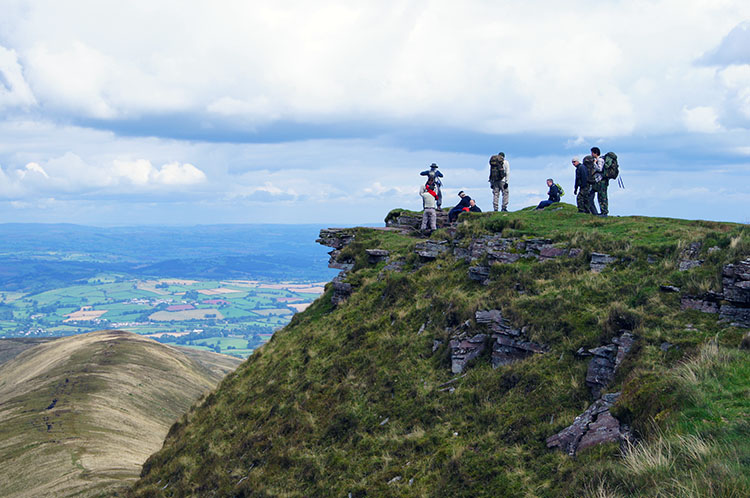 Lofty view from the summit of Fan y Big