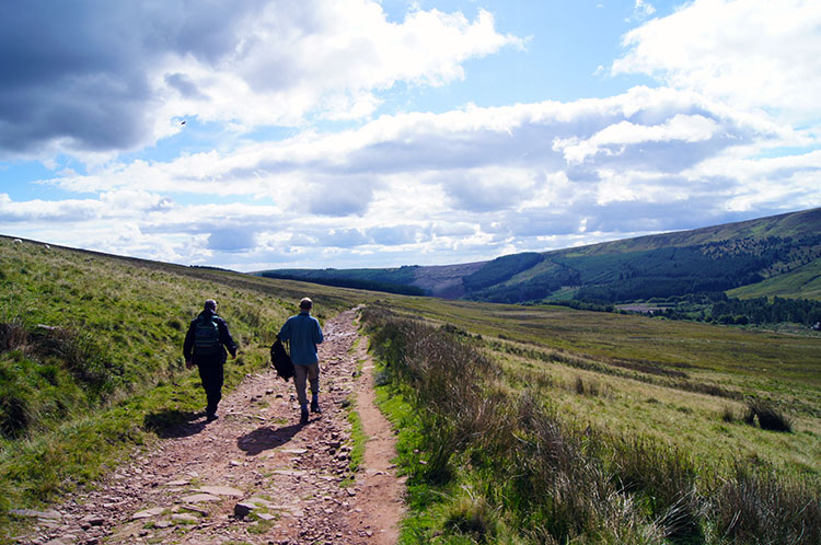 Walking back towards Taf Fechan