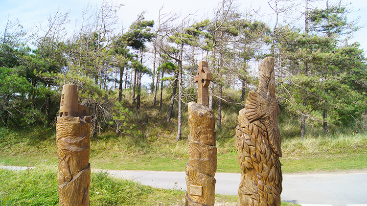 Wood carvings near the car park