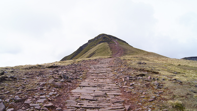 Paved path to the summit of Pen y Fan