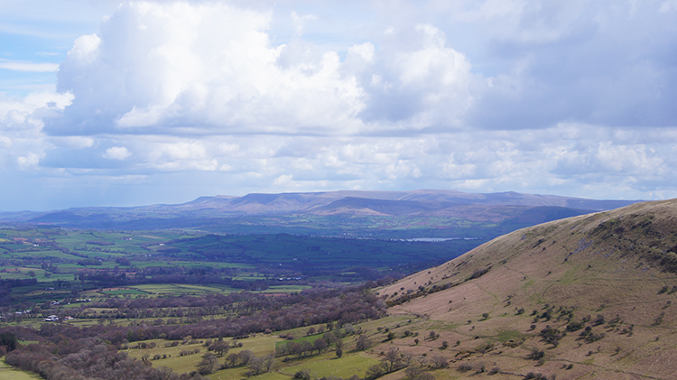 View north-east to the Black Mountains