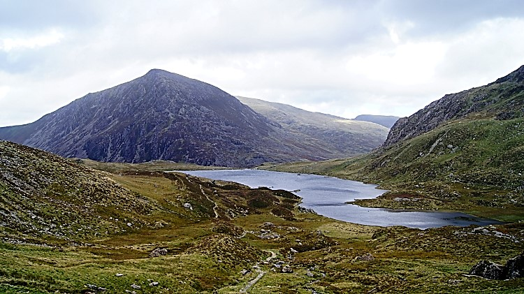 View from below Devil's Kitchen to Llyn Idwal