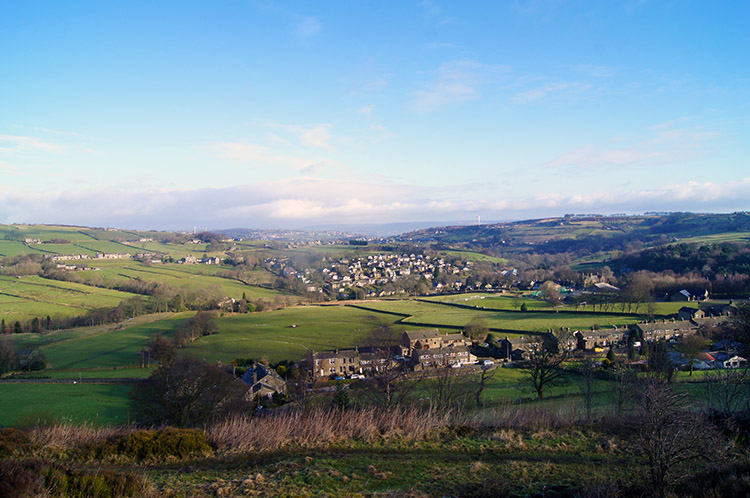 View from Oxenhope to the Worth Valley