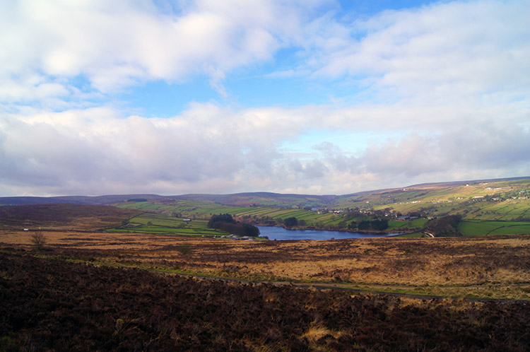 View from Penistone Hill to Lower Laithe Reservoir